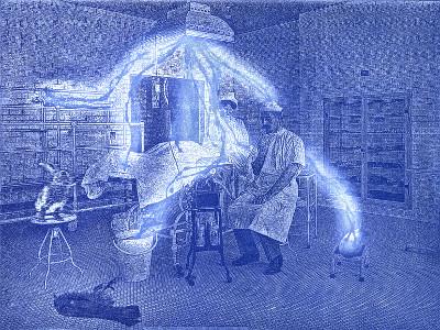 Radierung: Das Wunder der Medizin