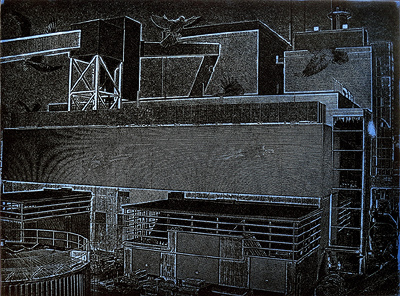 etching: Power Station